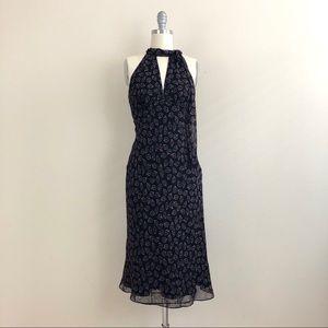 Laundry By Shelli Segal Silk Leaf Print Dress